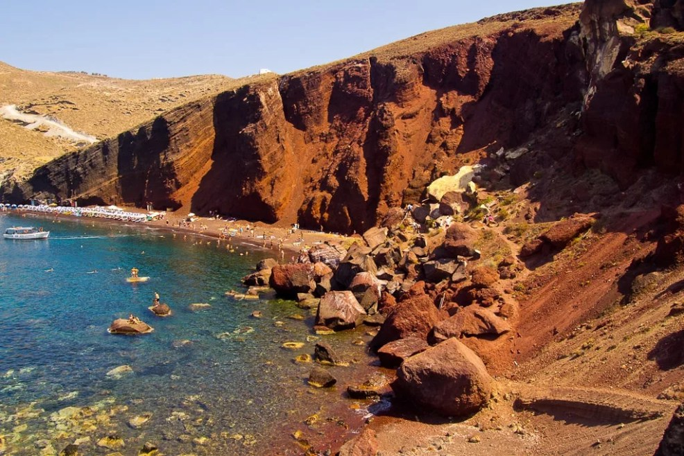 Things to do in Santorini, Places to visit in Santorini, Beaches in Santorini, Red Beach