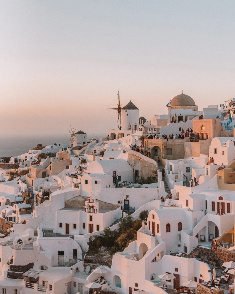 instagrammable places in Santorini, sunset in Oia