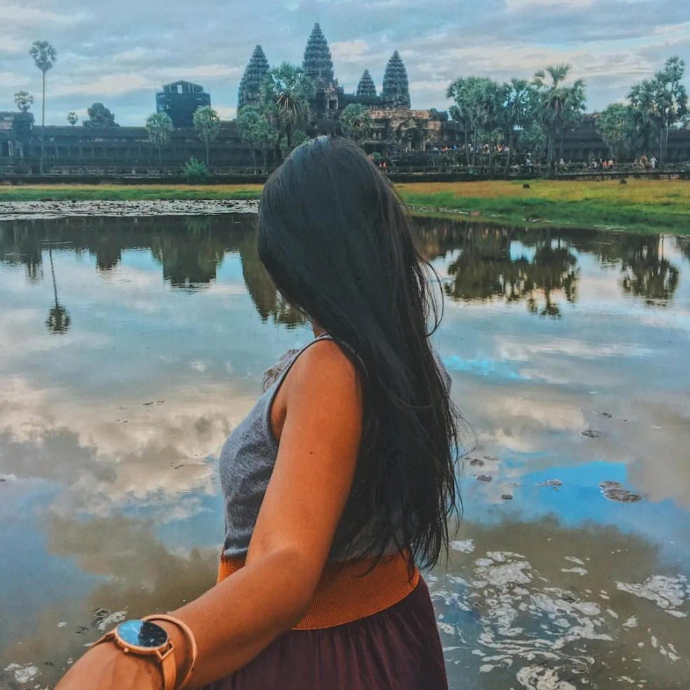 Sunset in Angkor wat, most instagrammable places in Cambodia