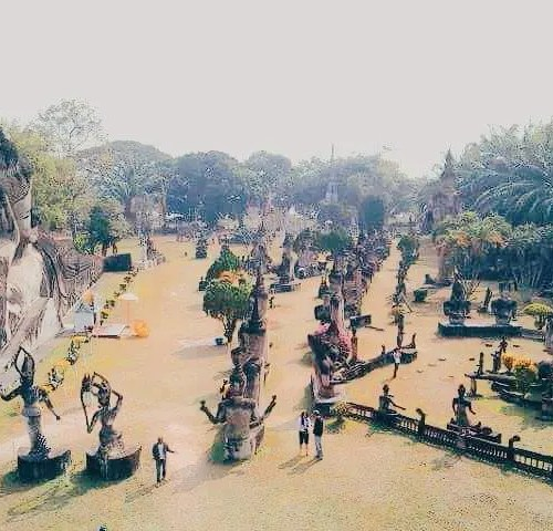 Buddha park, instagrammable places in Laos