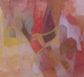 rot II, 2016, Roggentempera auf Tafel, 30x40cm - salgt-