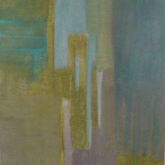 Grün II, 2016, Roggentempera auf Tafel, 30x40cm