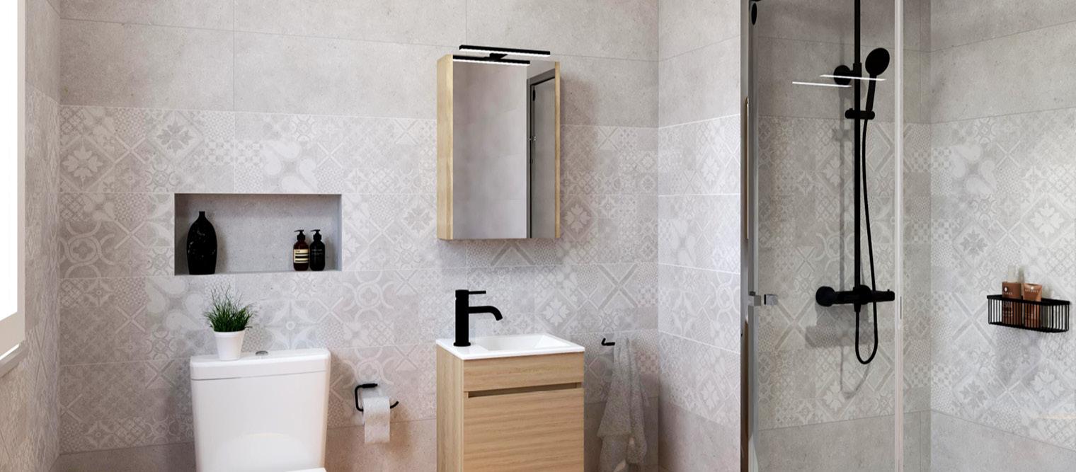 almacenaje en el baño, mueble de baño, toallero, camerino baño