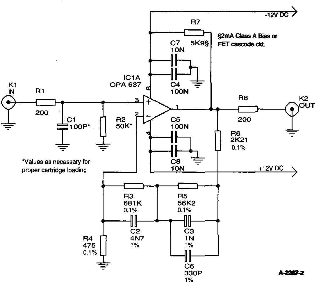 High-Quality Moving Magnet (MM) IC Preamp