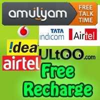 free recharge amulyam airtel idea bsnl vodafone ultoo embeepay