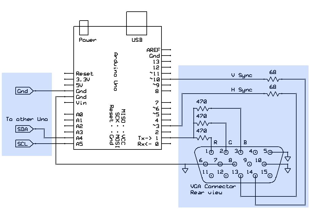 vga cable schematic