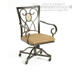 Side Chairs With Casters Resin Adirondack Canada Brookside Oval Caster Game Set Of 2