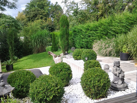 Un jardin contemporain et zen  Gamm vert