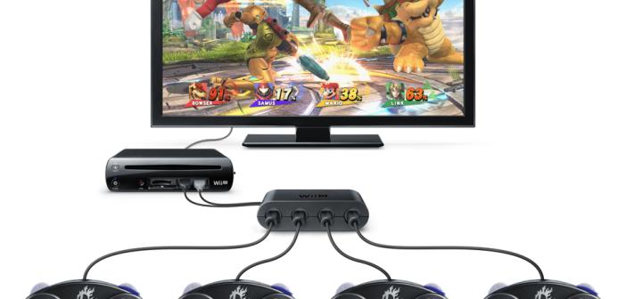 Super Smash Bros e adattatore Game Cube Controller