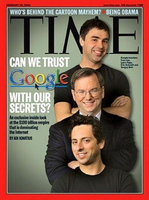 """Nel 2006, il Time titolava:""""Possiamo fidarci di Google per i nostri segreti?"""""""