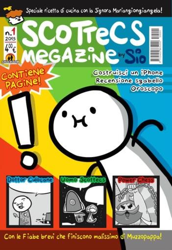 La copertina del primo numero di Scottecs Megazine, prima rivista di Sio