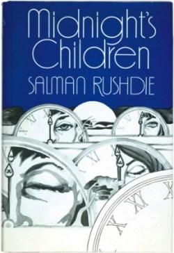 La prima copertina di Midnight's Children di Salman Rushdie, tradotto in Italia come I Bambini della Mezzanotte