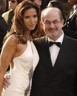 Salman Rushdie in compagnia dell'ex moglie Padma Lakshmi