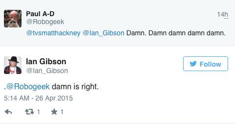 La risposta di Ian Gibson