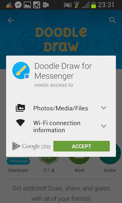 Ecco di quali autorizzazioni ha bisogno l'app per funzionare