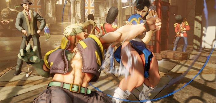 Scene di combattimento di Street Fighter V