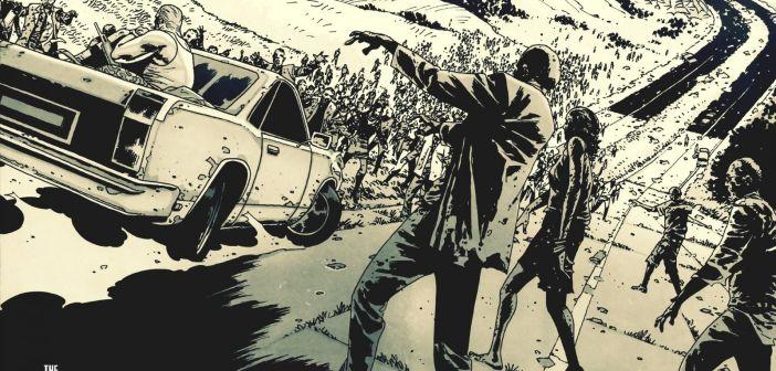 Una tavola tratta da The Walking Dead
