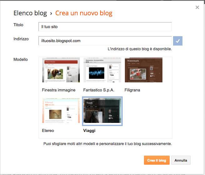 Guida come creare un sito web gamobu - Creare finestra popup ...