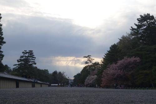 palais imperial, seul le parc est ouvert