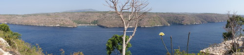 Vue sur Nusa Penida depuis Ceningan...