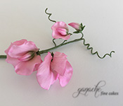 Handcrafted Sugar Flowers- Sweet Pea