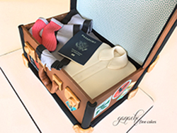 Portugal Travel Suitcase Cake