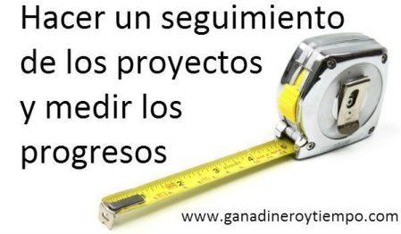 Hacer un seguimiento de los proyectos y medir los progresos