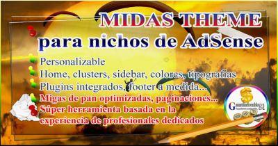 MIDAS THEME – Plantilla WordPress para nichos de AdSense