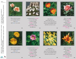 88442  FLORAL ASSORTMENT WITH VERSE