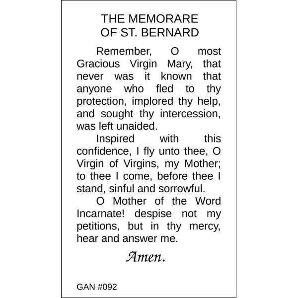 graphic regarding Memorare Prayer Printable named OLO Grace - Memorare Prayer Card