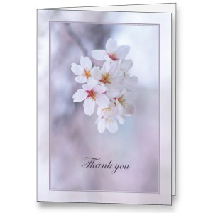 Acknowledgement Cards - Preprinted Text Inside