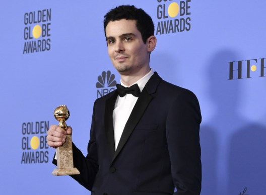 Mandatory Credit: Photo by Rob Latour/REX/Shutterstock (7734778bg) Damien Chazelle - Best Screenplay - La La Land 74th Annual Golden Globe Awards, Press Room, Los Angeles, USA - 08 Jan 2017