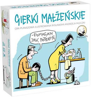 Gierki małżeńskie Gra towarzyska ilustrowana rysunkami Andrzeja Mleczki