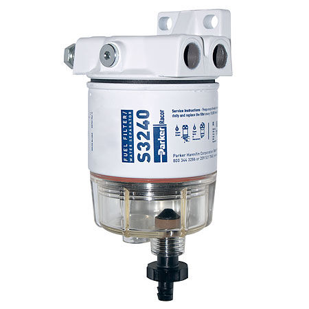 medium resolution of spin on series fuel filter water separator for outboards 30 gph 1