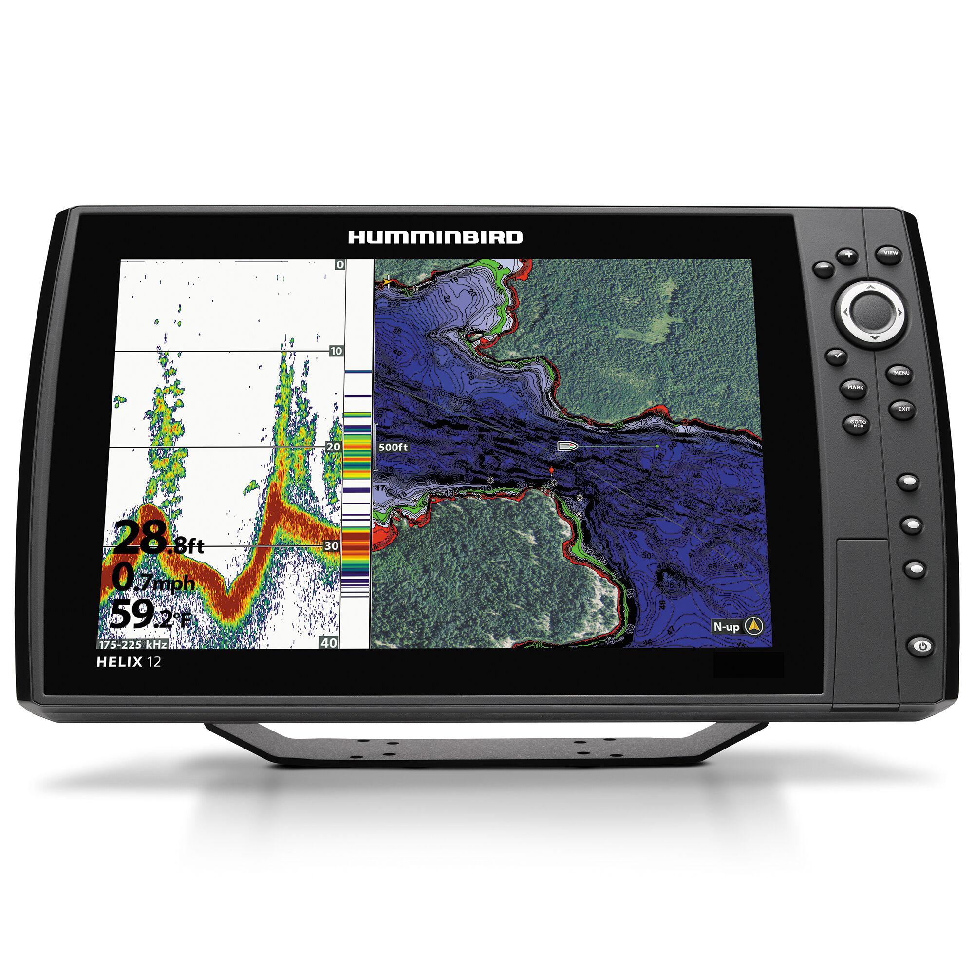 medium resolution of humminbird helix 12 mega si gps g2n chirp fishfinder chartplotter