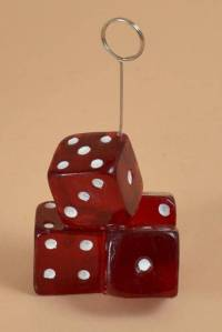 DICE PHOTO HOLDER & BALLOON WEIGHT RED/WHITE ...