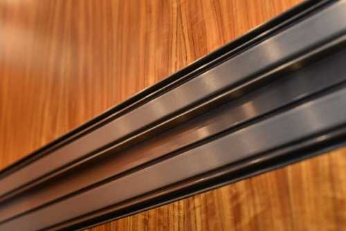 Up close view of accent trim and luxurious surface material.