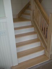 Hardwood staircases, images and photos of different wood ...