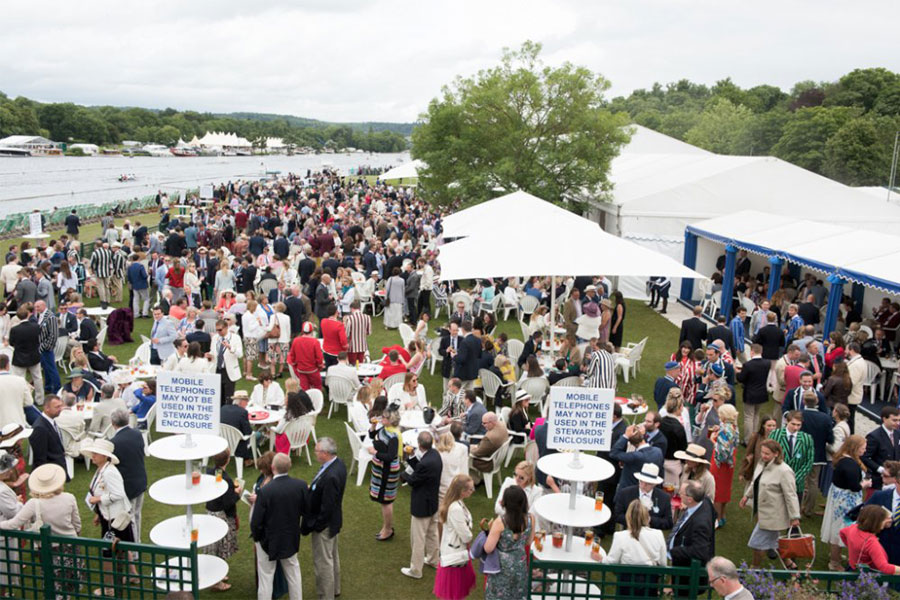 An image of an enclosure at Henley Royal Regatta - book a chauffeur to this event from GandT Executive