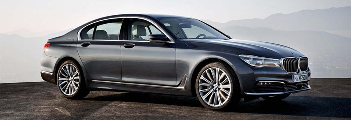 An image of a BMW 7 Series LWB, part of GandT Executive's fleet of luxury chauffeur driven cars.
