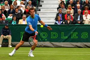 An image of a tennis player competing in the Boodles Tennis Tournament - book a chauffeur to this event from GandT Executive