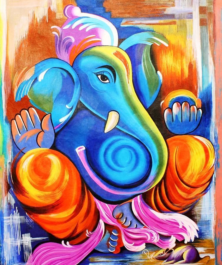 Lord Buddha Animated Wallpapers Ganesh Chaturthi Ganesh Artwork Paintings