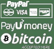 Payment Methods - Paypal, Payumoney, Bitcoin