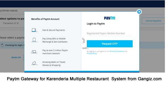 Paytm Gateway (India) for Karenderia Website
