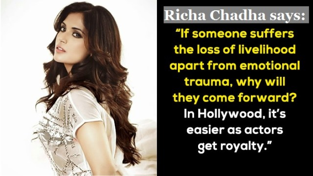 Richa Chadha on sexual abuse