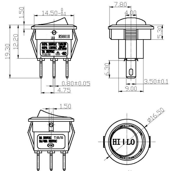 Wholesale 3 pin wiring t85 mini rocker switch,3 pin wiring