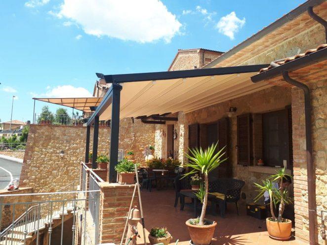 Quando alla veranda che dà sul giardino di casa tua serve qualcosa in più che una semplice copertura dal sole. Strutture Per Esterni Per Case Ville Aziende Negozi E Ristoranti Gani