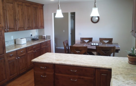 Open dining style in kitchen renovation