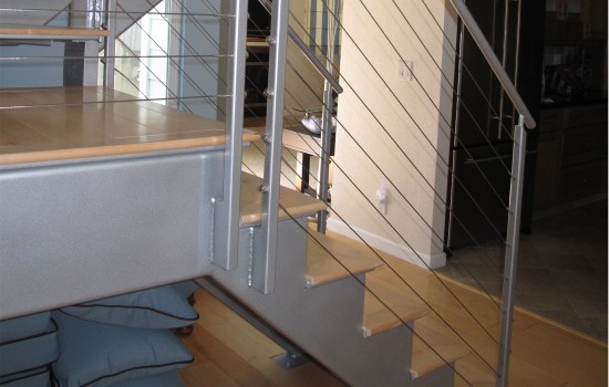 Whole home remodeled stairs