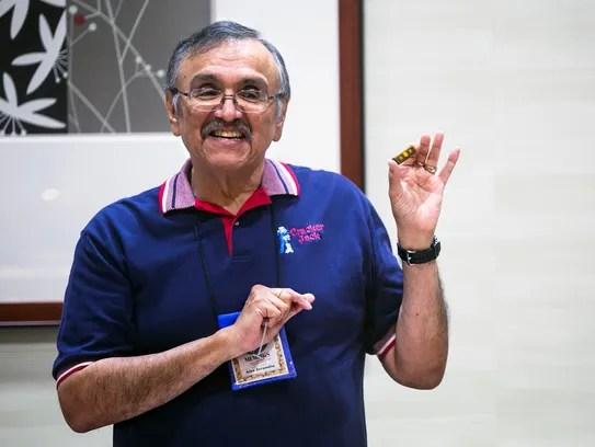Alex Jaramillo Jr., president of the Cracker Jack Collectors